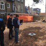 Brandweer onderzoekt met drone het afgebrande casino van Groningen