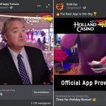 Illegale nep reclame Holland Casino op Facebook
